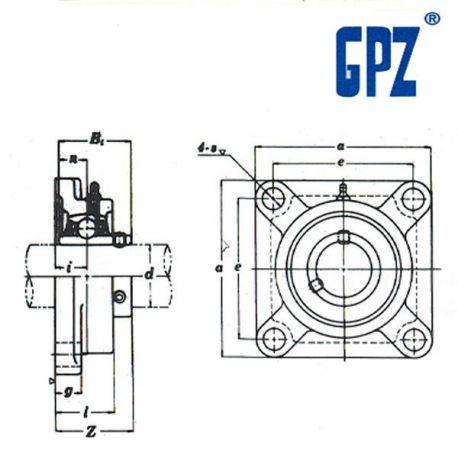 BORE 20 MM UCP-204 GPZ EJE