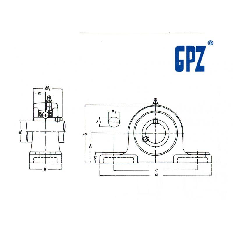 UCP-210 GPZ EJE BORE 50 MM